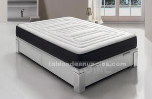 Canapé abatible y colchón viscoelástico 190 cm