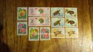 84 sellos de cuba, república argentina, méjico y