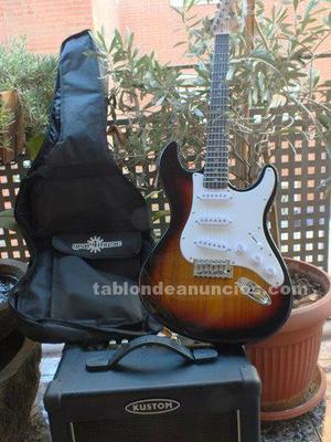Pack completo guitarra strato gear4music y amplificador