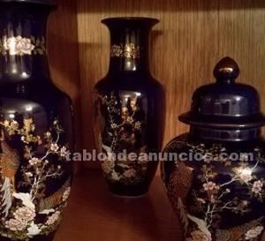 Conjunto de jarrones chinos