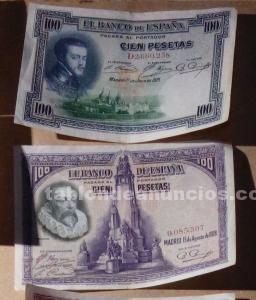 Vendo monedas y billetes antiguos