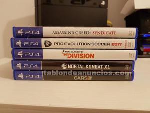 Consola playstation 4 ps4 con 1tb + 5 juegos + soporte
