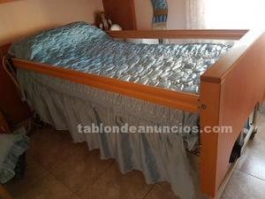 Vendo cama tipo hospital de madera,