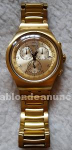 Vendo o cambio reloj swatch irony dorado