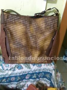 Vendo bolso cuero marron