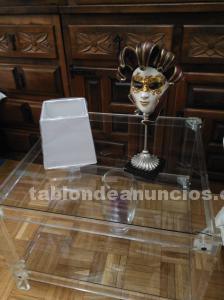 Mesa de metacrilato y cristal