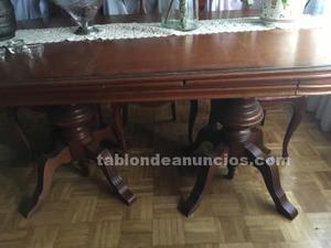 Mesa y 6 sillas de salón