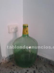 Botella antigua garrafa verde