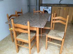 Vendo mesa de cocina y 6 sillas