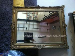 Precioso espejo, marco de madera en pan de oro
