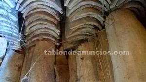 Se venden tejas viejas curvas tipo árabe