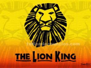 Vendo dos entradas para el musical el rey león