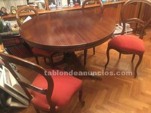 Vendo mesa de comedor y 4 sillas