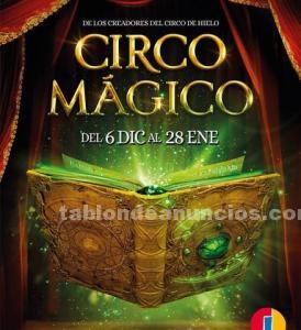 Vendo 4 entradas gold vip de circo magico sesión 3 enero