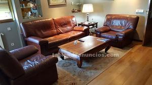 Vendo conjunto de sofá-cama y 2 sillones, todo tapizado en