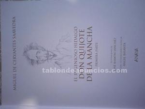 """don quijote de la mancha"" dos volúmenes."