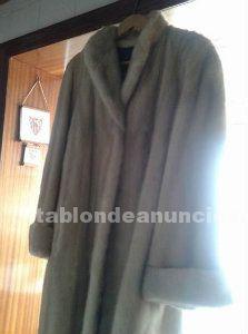 Vendo abrigo de vison color crema en muy buen estado