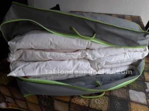 Edredón de pluma para cama de  cm