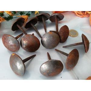 Antiguos clavos de hierro (12 unidades)