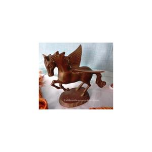 Caballo alado de bronce antiguo. Pegasus. Buena pieza.