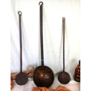 Antiguo cazo grande de cobre posot class for Cucharones de cocina
