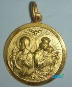 Medallas de virgenes y santos