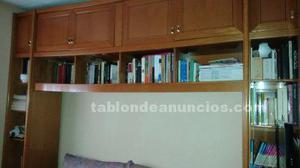 Mueble libreria y nido dos camas