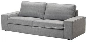Sofa kivik 3 plazas color isunda gris nuevo