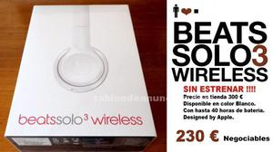 Vendo auriculares beats solo 3 wireless_ color blanco