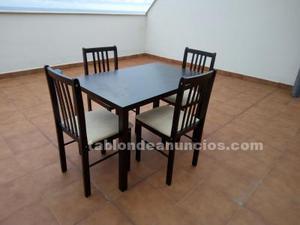 Vendo mesa nueva con 4 sillas
