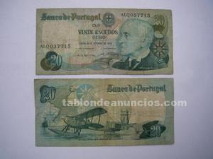 Billete portugues - 20 escudos