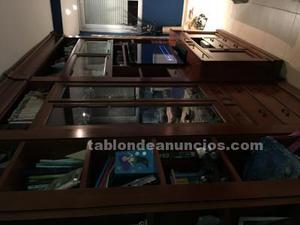Mueble de roble guaserie con mesa