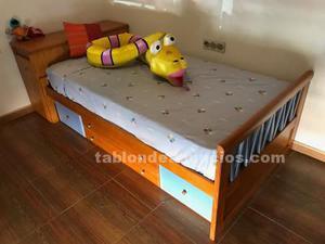 Dormitorio juvenil en madera maciza