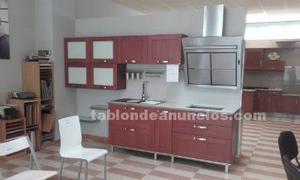 Muebles de cocina de exposición modelo marta roble con la