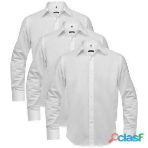 3 camisas de vestir para hombre talla L blanco