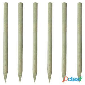 6 postes puntiagudos de madera, 150 cm