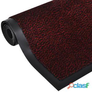 Alfombra de entrada cuadrada, roja y antideslizante 180 x