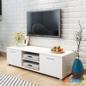 Aparador para TV de alto brillo 120x40,3x34,7 cm blanco
