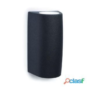 Aplique pared cilindrico exterior negro Estel GU10 35W IP55
