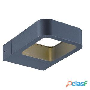 Aplique pared cuadrado antracita Arsen LED 7W 3000K 290Lm