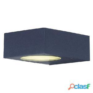 Aplique pared cuadrado antracita Guiu LED 6W 3000K 504Lm