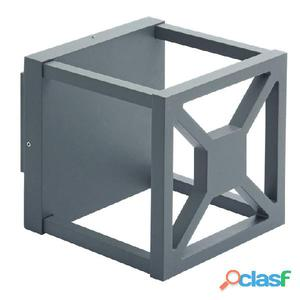 Aplique pared cuadrado exterior antracita Arlen LED 12W