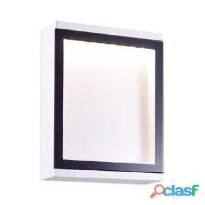 Aplique pared cuadrado exterior blanco Cella LED 6W 3000K