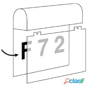 Aplique pared cuadrado exterior blanco Number LED 6W 3000K