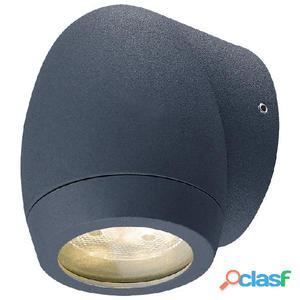 Aplique pared foco exterior antracita Guisla LED 3W 3000K