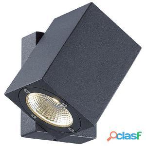Aplique pared foco orientable exterior antracita Suevis LED