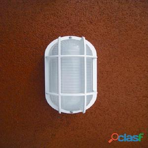 Aplique pared ovalado exterior blanco Coban E27 23W IP44
