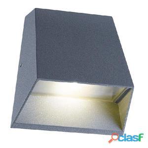 Aplique pared trapezoidal antracita Artal LED 7W 3000K 344Lm