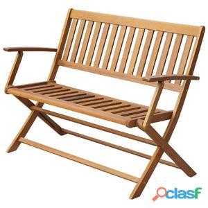 Banco plegable de madera maciza acacia 120x60x89 cm