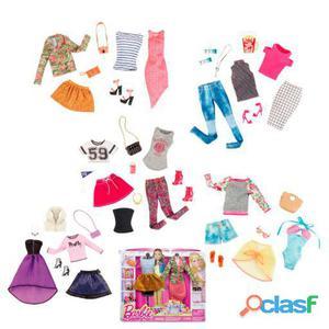 Barbie Moda Pack 2 Vestidos Barbie